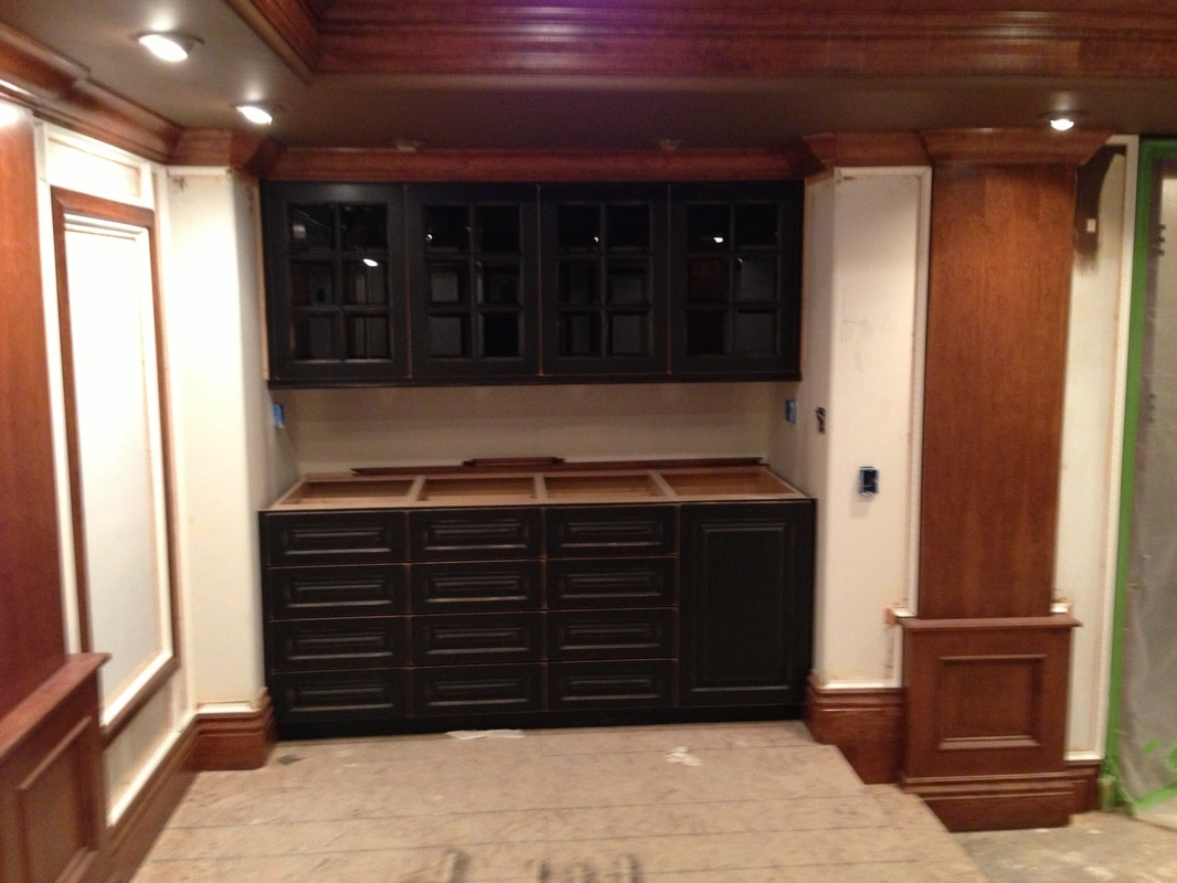 Custom built cabinets palmer custom woodworks inc for Custom built cabinets